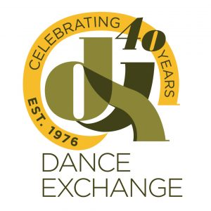 Dance Exchange logo (DX Celebrating 40 Years EST. 1976)