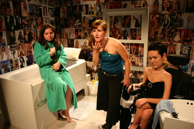 Jessica Lynn Rodriguez, K. Clare Johnson, and Selene Faer in Low Level Panic